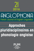n° 21 - Approches pluridisciplinaires en phonologie anglaise