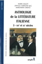 Anthologie de la littérature italienne - Tome 3