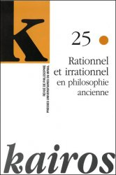 n° 25 - Rationnel et irrationnel en philosophie ancienne