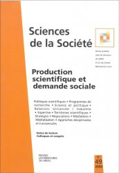 n° 49 - Production scientifique et demande sociale