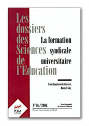 n° 16 - La formation syndicale universitaire