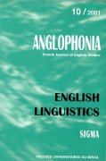 n° 10 - English Linguistics / Linguistique anglaise