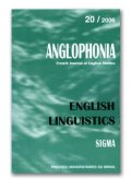 n° 20 - English Linguistics