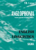 n° 18 - English linguistics