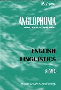 n° 16 - English Linguistics