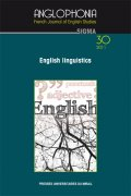 n° 30 - English Linguistics