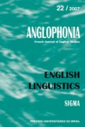 n° 22 - English linguistics