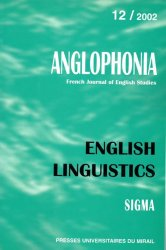 n° 12 - English Linguistics / Linguistique anglaise
