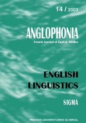 n° 14 - English Linguistics